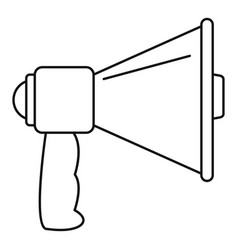 Megaphone with handle icon outline style vector