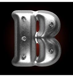 Metal construction figure b vector