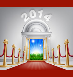 New year door 2014 vector