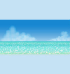 panoramic summer sea water vector image