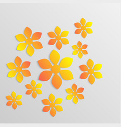 paper flower origami10 vector image