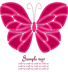 Pink and white butterfly background vector image