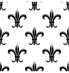 Retro fleur de lys seamless pattern vector