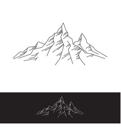 Rock mountains simple flat vector