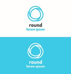 Round abstract geometric logo vector image