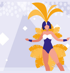 Samba dancer isolated icon vector
