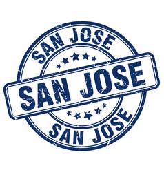 San jose stamp vector