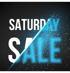 Saturday Sale Energy Explosion Concept vector