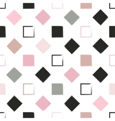 Seamless universal pattern Squares and diamonds vector image