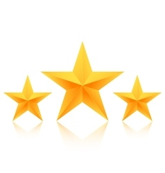 Set gold stars icon best rating gold vector