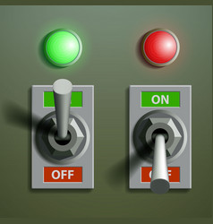 set of toggle switches vector image