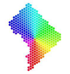 spectrum hexagon washington dc map vector image
