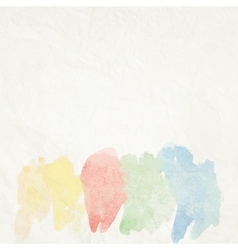 Water color like cloud on old paper EPS10 vector image vector image