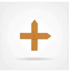 Wooden boards cross vector