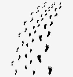 Black footprints vector image vector image