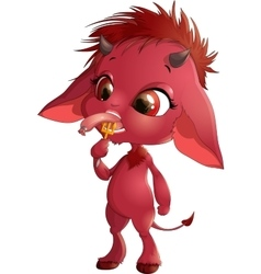 cute red devil vector image