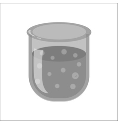 Laboratory chemical flask icon monochrome style vector image vector image