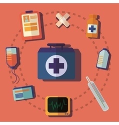 medical help icon vector image