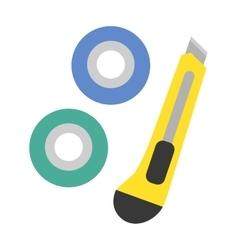 School tools supplies assortment individually vector image