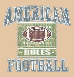American FOOTBALL Rule vector image vector image