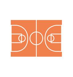 Basketball field symbol vector