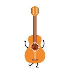 guitar instrument isolated icon vector image vector image