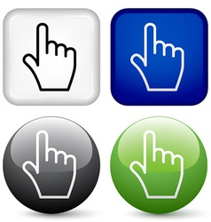 hand buttons vector image vector image