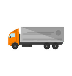 modern freight truck isolated icon vector image vector image