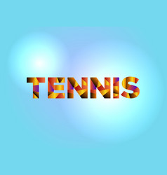 Tennis concept colorful word art vector