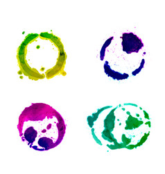 a set of bright round spots vector image