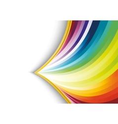 abstract rainbow arrow banner vector image