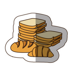 color various types of bread icon vector image