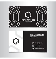 Elegant geometric black and white business vector