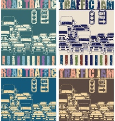 road traffic old poster vector image
