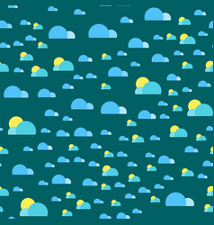 weather seamless pattern cloud sky vector image vector image