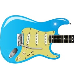 50s electric guitar vector