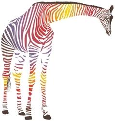 Abstract giraffe with zebra skin vector image