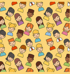 icons set network people vector image