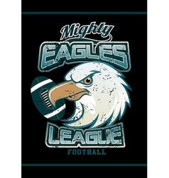 Mighty eagles league football team on black vector