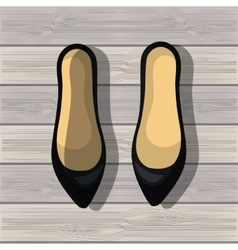 Shoes for woman design vector image vector image