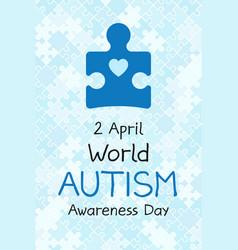2 april world autism awareness day banner symbol vector image