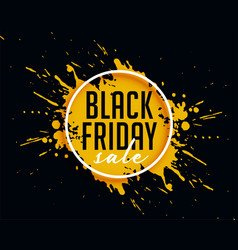 Abstract black friday sale with ink splash vector