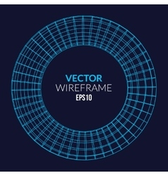 Abstract wireframe sphere glowing on dark vector image