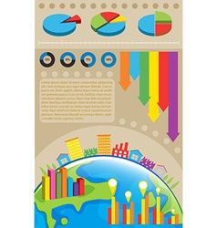 An infochart of the environment vector image