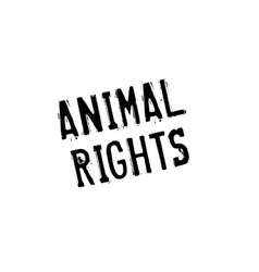 Animal Rights rubber stamp vector