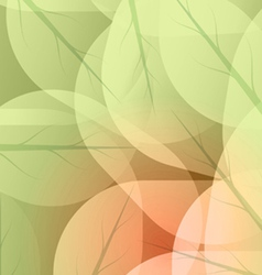 Background of green leaves vector