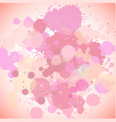 Background template design with pink splashes vector