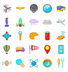 balloonist icons set cartoon style vector image