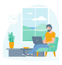 Best place for remote work vector