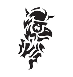 Bird viking tattoo vector
